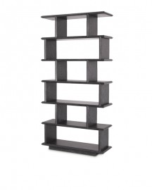 Grey Oak Veneer Shelves Cabinet H236cm