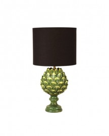 Green Ceramic Artichoke Lamp