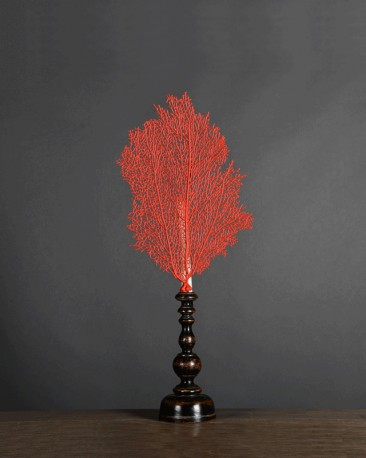 Gorgon Candlestick, Red Imperial Resin