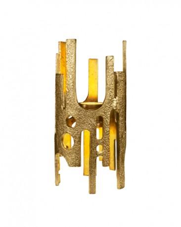 Raw Lamp Bronze Finish H40cm