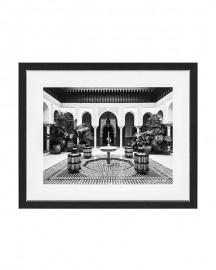 Cadre Photo Cour Intérieure Marocaine 109 cm
