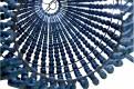 Blue Wooden Beads Chandelier