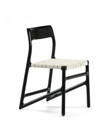 Dining Chair Valeria Black Lacquered