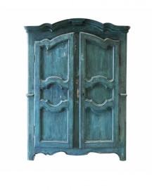 Antique 2-Door Emerald Wardrobe