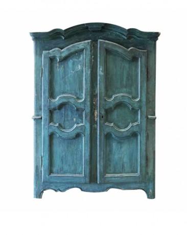 Antic Emerald Wardrobe 2 doors