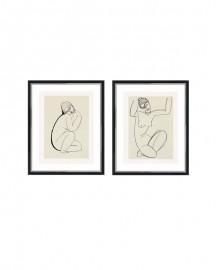 Gravures Nus Assis Modigliani Set de 2