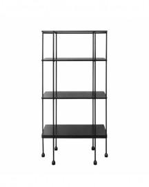 Modular Black and Metal Shelves Connor L80cm