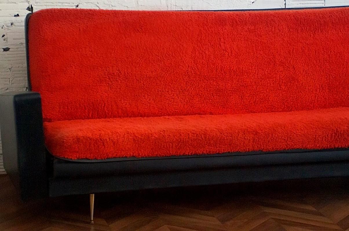canapé vintage années 50, meuble mobilier vintage, déco 70s