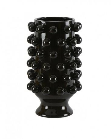 Grapes Vase Red Ceramic