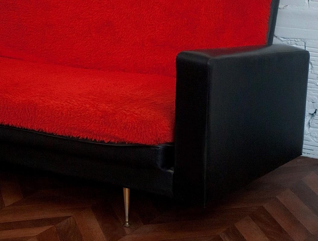 Canap vintage ann es 50 meuble mobilier vintage d co 70s for Canape annee 50