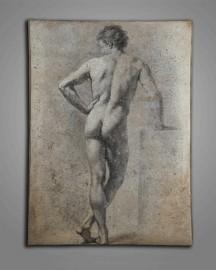 Homme Nu de dos, Etude H100cm