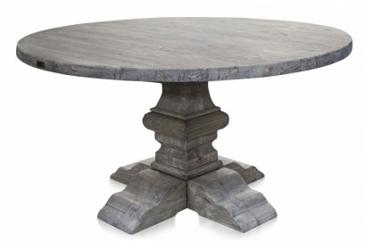 Round Grey  Farm Table - ∅ 150 cm