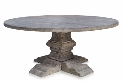 Wooden Grey Round Table ∅180 cm