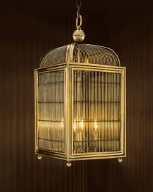Hanging Birdcage Lantern H84cm