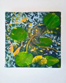 Huile sur toile - Etude au Bassin N°6 - 20x20 cm