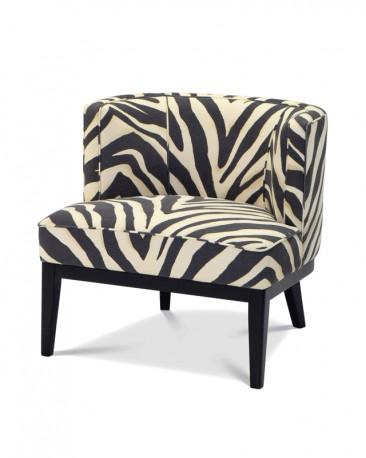 Swivel Chair Amy, Cream Bouclé Fabric