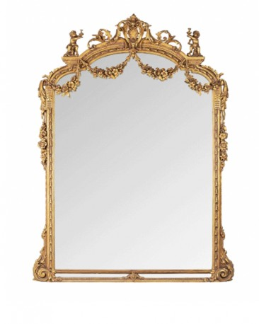 Miroir Baroque aux Angelots