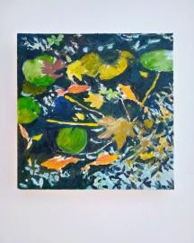 Huile sur toile - Etude au Bassin N°7 - 20x20 cm