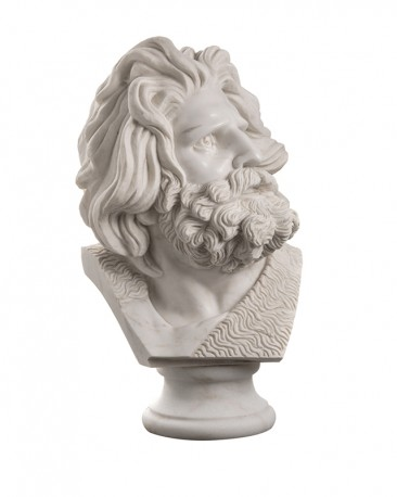 Male Bust White Marble - H65 cm