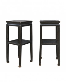 Pair of Old High Tables - H 84cm