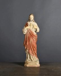 Christ Coeur Flamboyant H41cm
