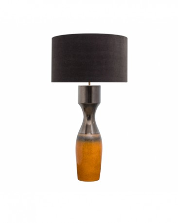 Earthenware Orange Table Lamp Meryl H113cm
