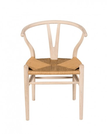 The CH24 wishbone chair in bleached oak and rope