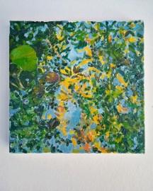 Huile sur toile - Etude au Bassin N°9 - 20x20 cm