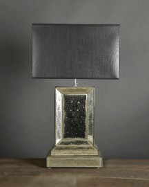 Beveled and Oxidized Mirror Lamp