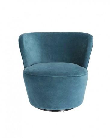 Swivel Chair Oly, Blue Velvet