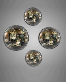 Antic Witch Mirrors, set of 4