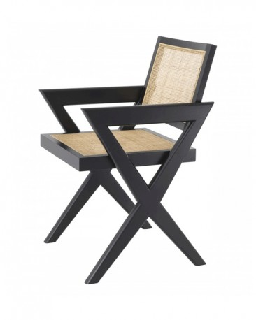 Dining Chair Lacquered Black Renato