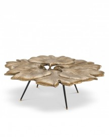 Coffee Table Vintage Brass Corolle