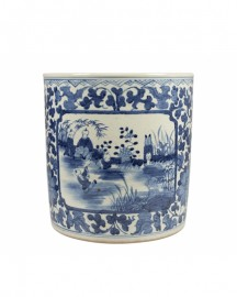 Blue and White Chinese Ceramic Vase