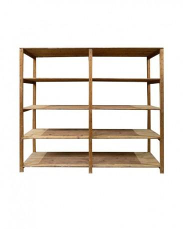 Grey Oak Veneer Shelves Cabinet H236cm