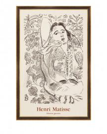 Engraving from Henri Matisse H84cm