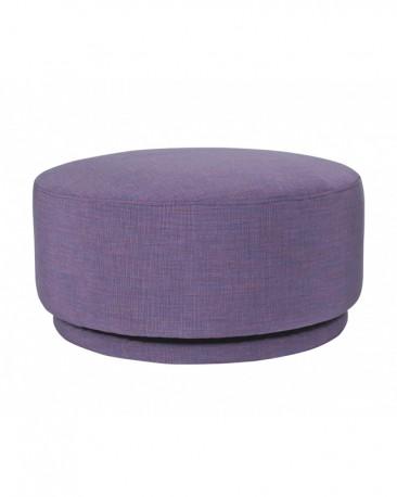 Heather Purple Swivel Ottoman ø60cm