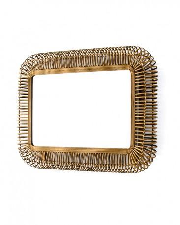 Diabolo Mirror - Wicker H105cm