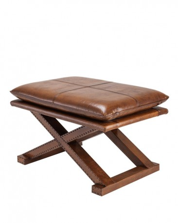 Leather Inverness Stool