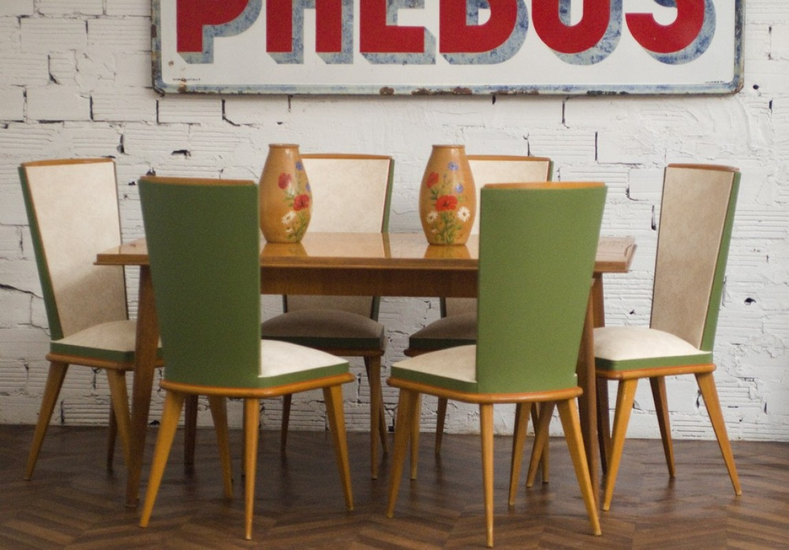 Chaises vintage ancienne chaise vintage ann es 50 for Table de cuisine des annees 50