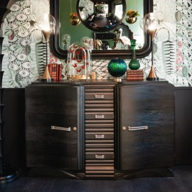 Sideboard from the 40s, matt black
