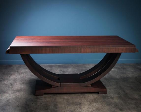 Antic Art Deco Mahogany Table - Mat Finish