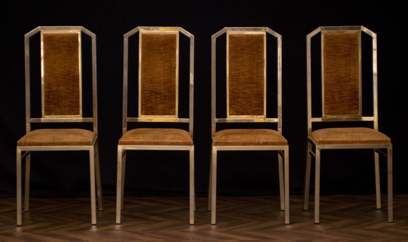 Chaises art d co 1950 ann es 50 chaises en m tal for Chaise salle a manger annee 50