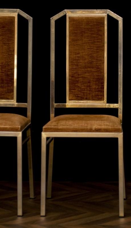 chaises art d co 1950 ann es 50 chaises en m tal. Black Bedroom Furniture Sets. Home Design Ideas