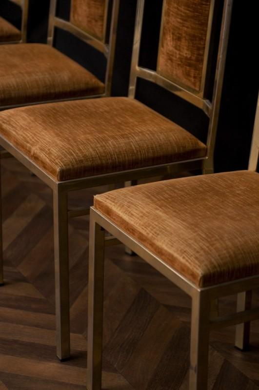 chaises art d co 1950 ann es 50 chaises en m tal vintage chaises salle manger. Black Bedroom Furniture Sets. Home Design Ideas
