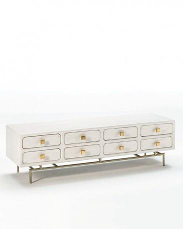 White Low Dresser Ursula 160cm