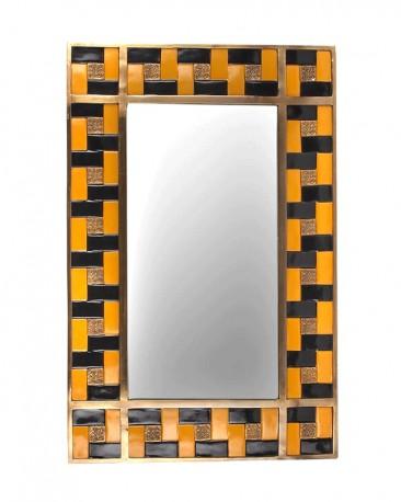 Porcelain Mosaic Mirror H63cm
