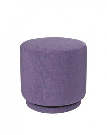 Heather Purple Swivel Ottoman ø40cm