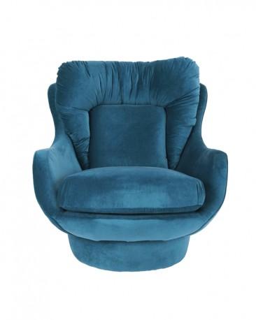 Royal Blue Velvet Armchair Amparo