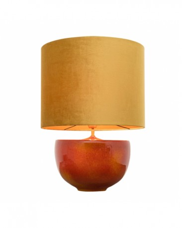 Yellow and Orange Ceramic Lamp H63cm